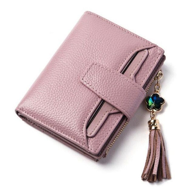 Women Leather Wallet; Small Ladies Wallet; ID Card Holder; Pocket .