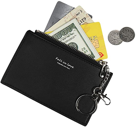 Small Wallets for Women Slim Leather Card Case Holder Cute Coin .