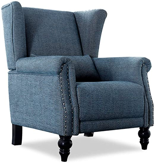 Amazon.com: Top Space Blue Accent Chair Fabric Club Chairs with .