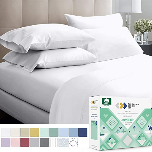 Amazon.com: California Design Den 600 Thread Count 100% Cotton .