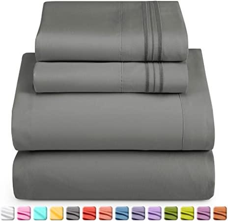 Amazon.com: Nestl Bedding Soft Sheets Set – 4 Piece Bed Sheet Set .