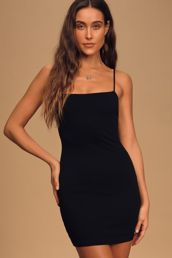Sexy Bodycon Dress - Black Dress - Sleeveless Dre