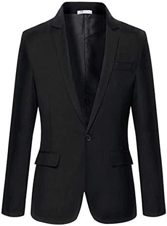 Misakia Men's Slim Fit One Button Casual Blazer Single Breasted .
