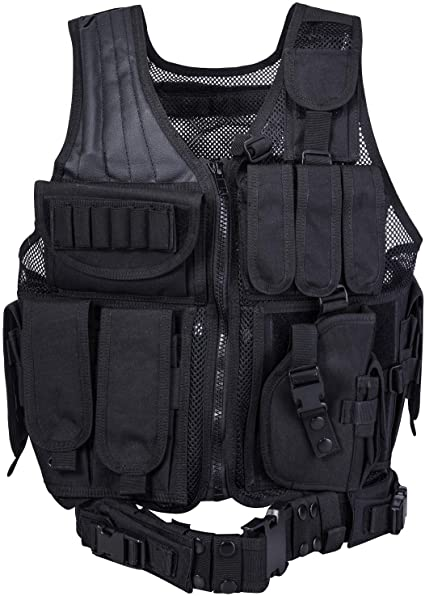 Amazon.com : REEHUT Breathable Tactical Vest with Numerous Pouches .