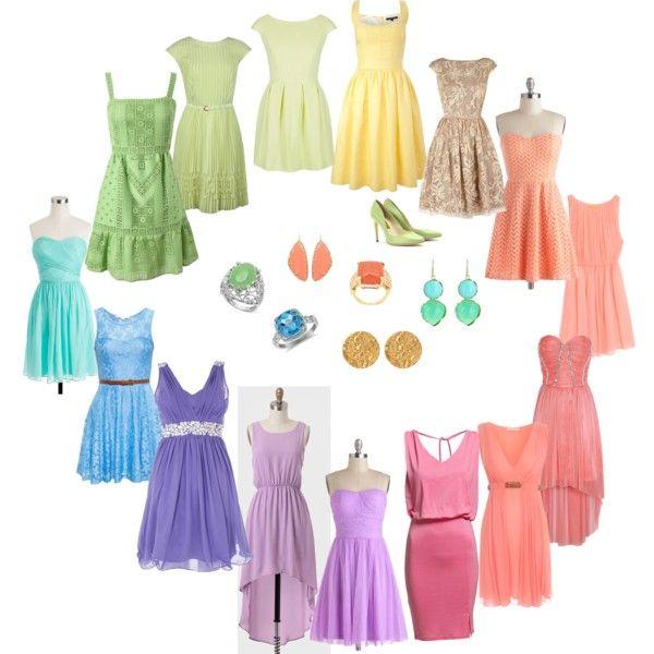 Light Spring - dresses (With images) | Light spring palette, Light .