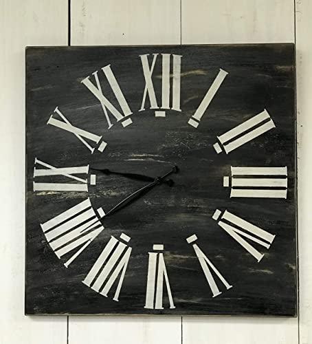 Amazon.com: Oversized Wood Wall Clock - Square Clock - Modern .