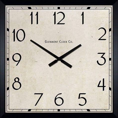 DECOR THERAPY Dcor Therapy Modern Square Clock | Square clocks .