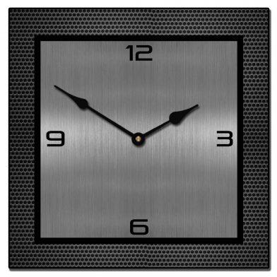 Modern Metal Wall Clocks | Large Square Clo