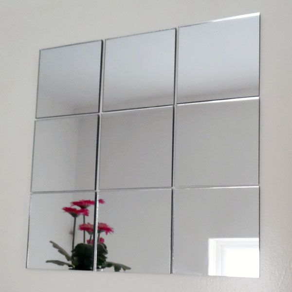 Packs of Square Mirror Tiles & Mosaic Mirrored Tiles (1cm to 20cm .