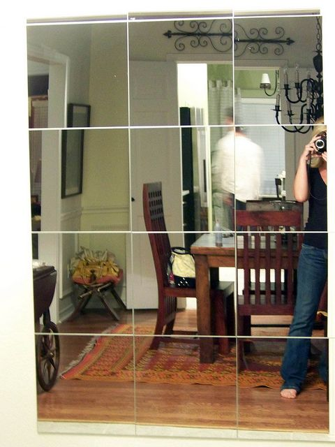 DIY} Mirror Wall | Mirror wall living room, Mirror wall bedroom .
