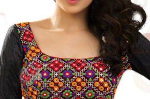 Multicolored Square Neck #Blouse | Blouse designs, Plain blouse .