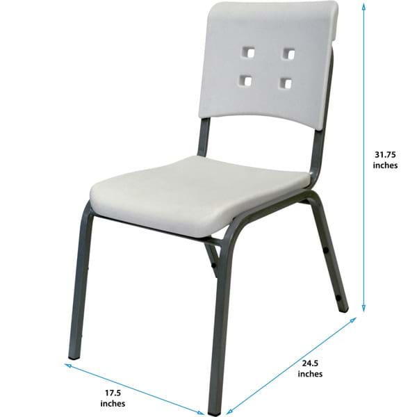 How much storage space for stackable chairs is needed | National .