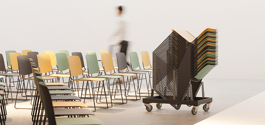 Stackable chairs for multifunctional spaces - Sell