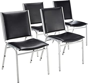 Amazon.com: Lorell Armless Stacking Chairs, 20-3/4 by 19-3/6 by 35 .