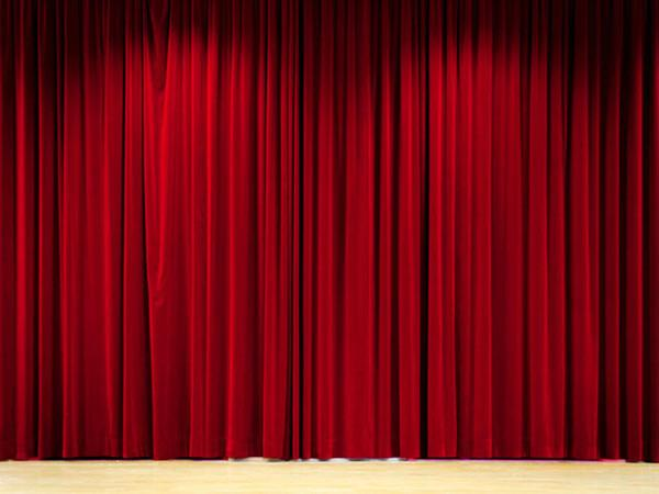Kate Red Stage Curtain Wood Floor Backdrop for Photography (With .