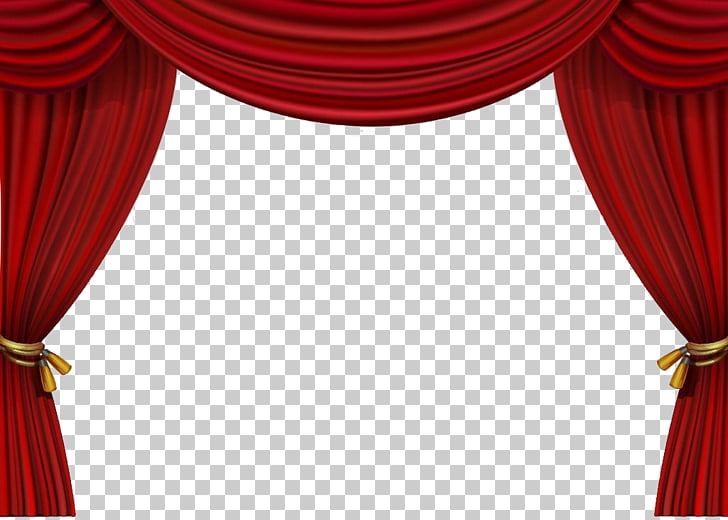 Theater drapes and stage curtains, Pull up the curtains, red .