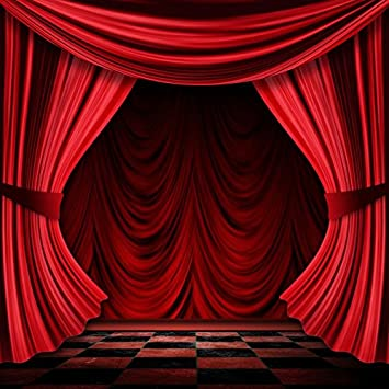 Amazon.com : Laeacco Stage Curtain Photography Background 6x6ft .