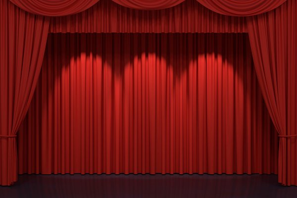 Red stage curtains | High-Quality Abstract Stock Photos ~ Creative .