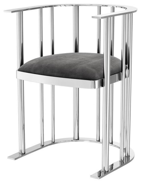 Stainless Steel Chair | Eichholtz Reina - Contemporary - Armchairs .