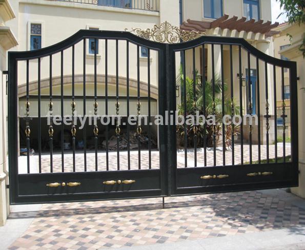Simple Steel Gate Design For Villa - Buy Steel Gate Design,Wrough .