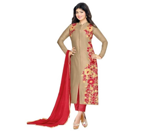 Embroidered Cotton Semi Stitched Salwar Suit at Rs 999/piece .