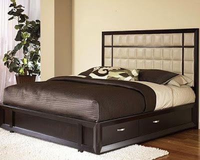 Home Design Decorating Ideas: Modern Storage Bed Desig
