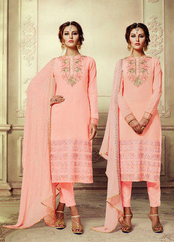 Georgette and Chiffon Straight Salwar Kameez, Rs 1199 /piece Saree .