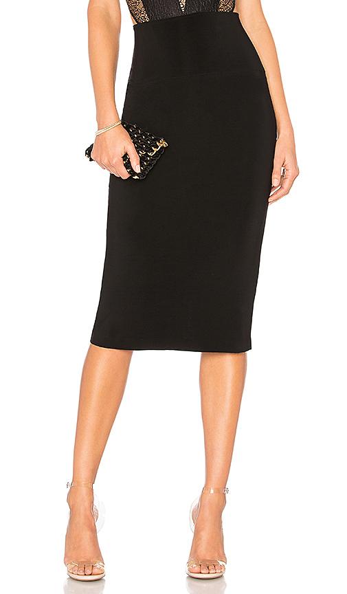 Norma Kamali Straight Skirt in Black | REVOL