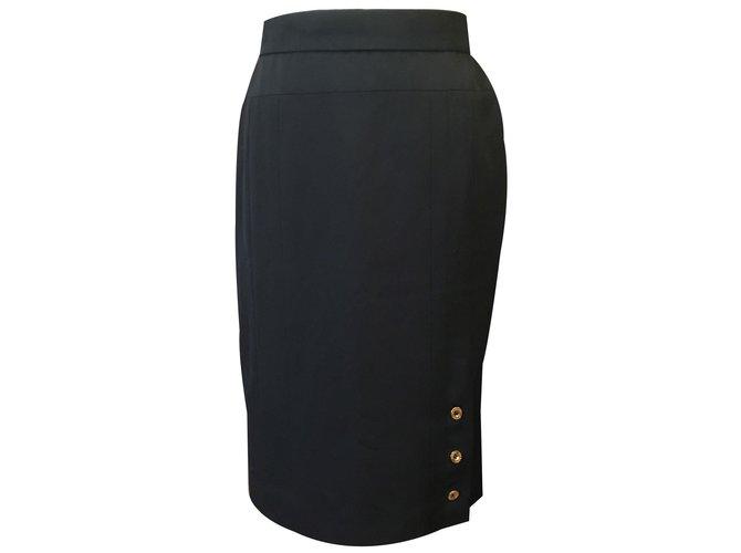 Chanel Straight skirt Skirts Other Navy blue ref.84866 - Joli Clos
