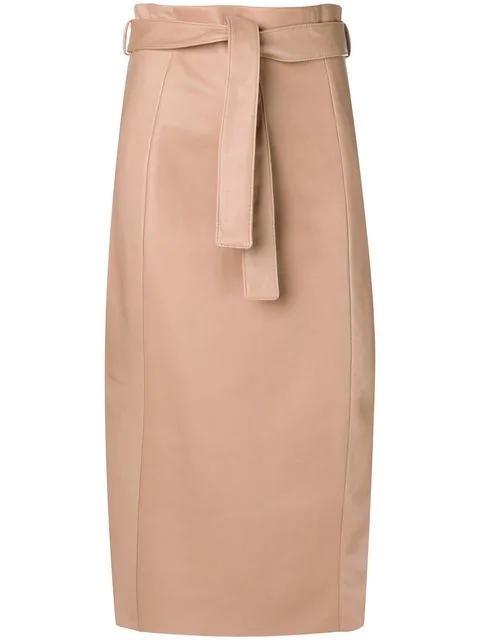 Drome Straight Skirt Women B202 Beige Clothing Skirts 100% High .