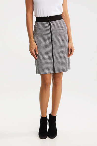 Houndstooth straight skirt - Dresses - Up To 60% Off - Sale | TRIST