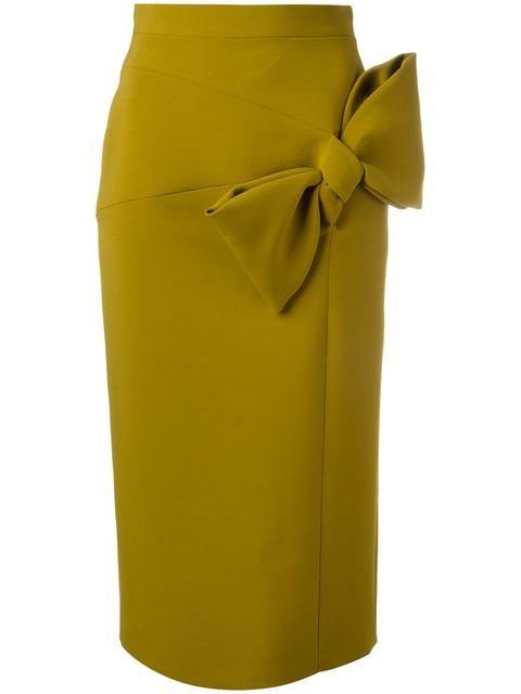 Shop Roksanda bow detail pencil skirt. | Skirt design, Skirt .