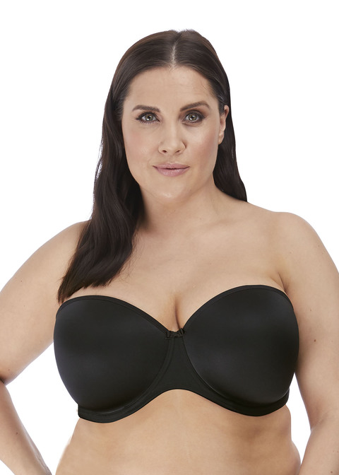 Smooth Black Moulded Strapless Bra from Elo