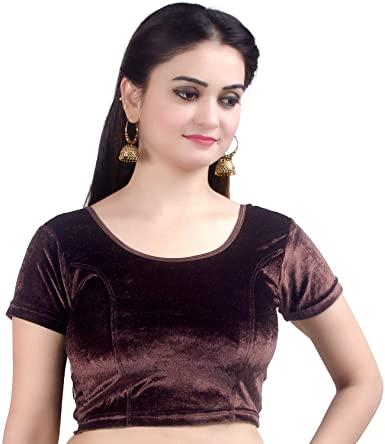 Amazon.com: Chandrakala Women's Stretchable Readymade Velvet .
