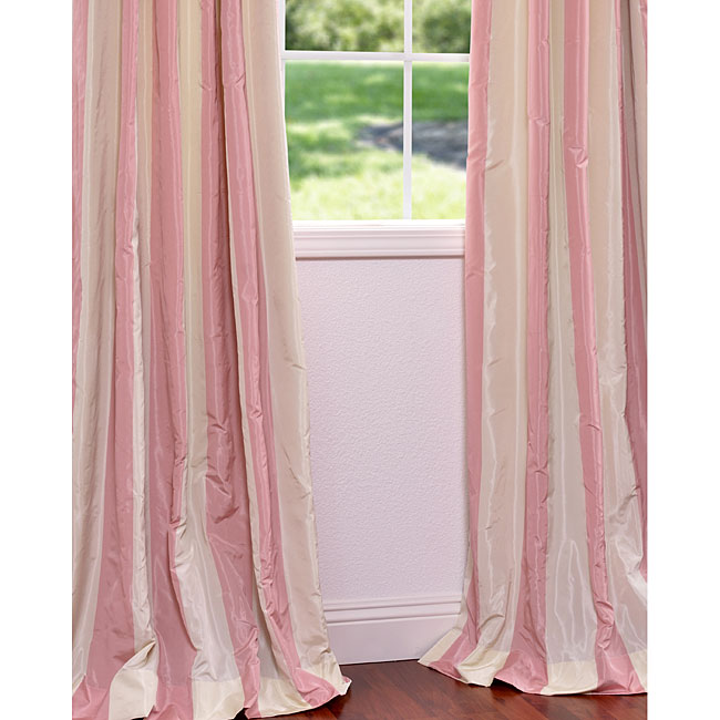 Pink and Cream Striped Curtains: Overstock.com | Just Desti