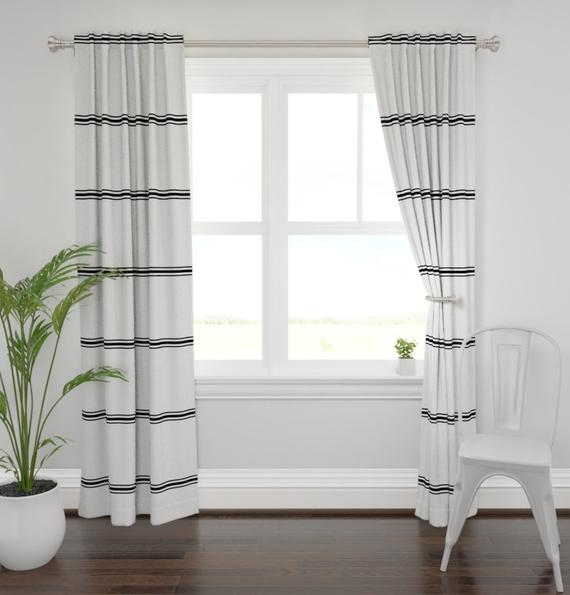 Modern farmhouse curtains striped farmhouse curtains new | Et