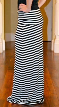 47 Best Striped maxi skirt images | Striped maxi skirts, Maxi .