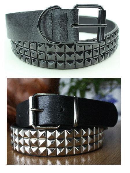 Buy Mens Pyramid Studded Belt - 2 Variations at Anarchicfashion .