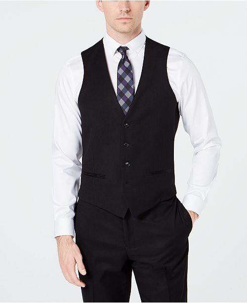 Ryan Seacrest Distinction Men's Slim-Fit Stretch Black Tuxedo Suit .