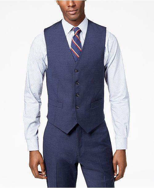 Tommy Hilfiger Men's Modern-Fit TH Flex Stretch Suit Vest .