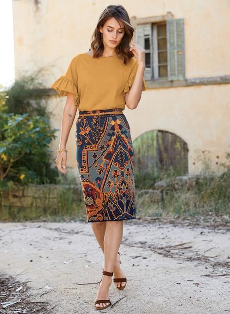 Yasmin Pima Cotton Pencil Skirt - Spring & Summer Skirts & Pants .