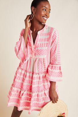 Petra Tiered Tunic Dress | Summer tunic dress, Summer tunics, Boho .