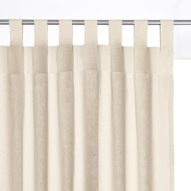 Scenario cotton tab top single curtain La Redoute Interieurs | La .