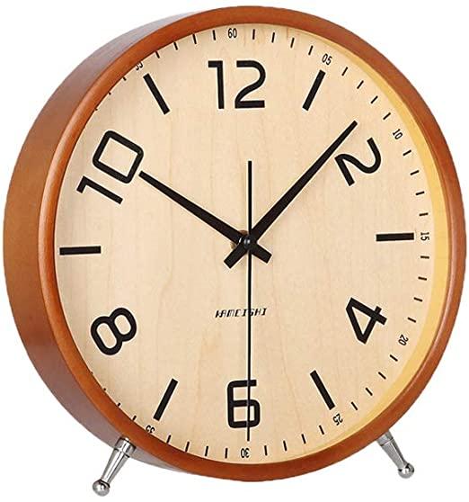 Amazon.com: KAMEISHI 8 Inch Desk Clocks Battery Operated Wood .