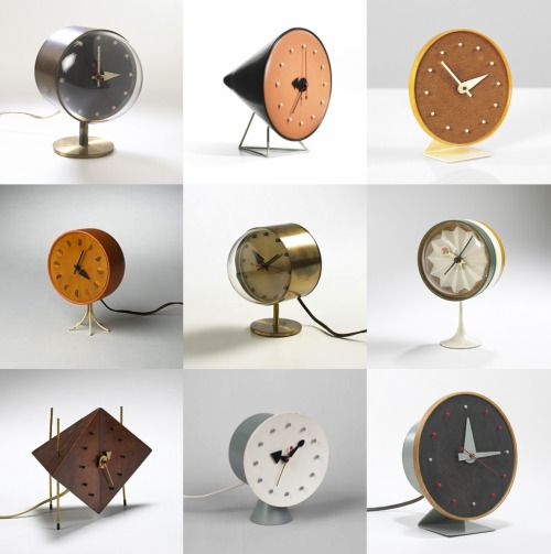 George Nelson Table Clocks (With images) | Table clock design .