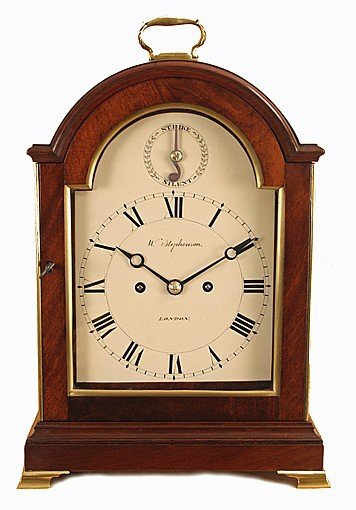 London Antique Table Clock by William Stephenson - Bracket/Table .