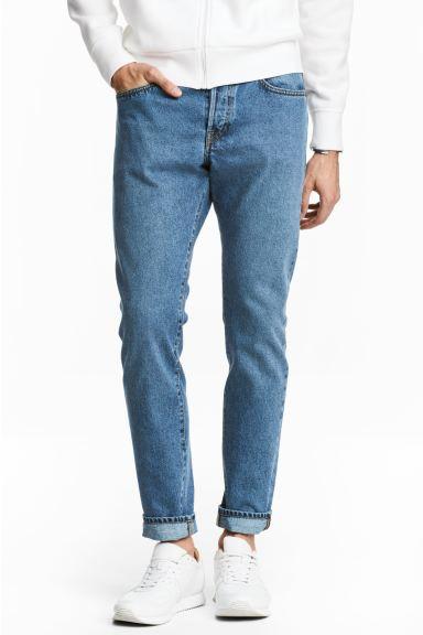 Slim Regular Tapered Jeans - Denim blue - Men | H