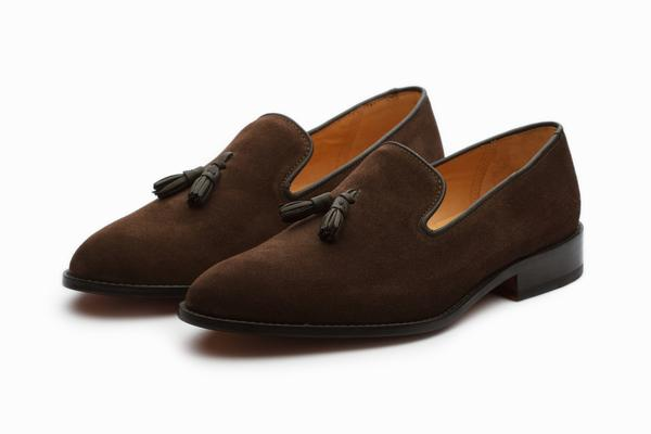Tassel Loafers - Brown Suede – 3DM Lifesty