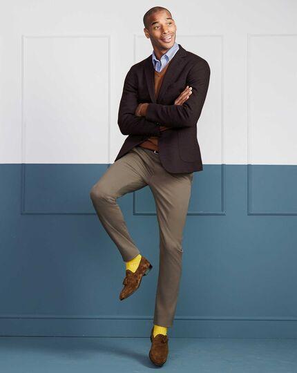 Tan suede tassel loafers | Charles Tyrwhi