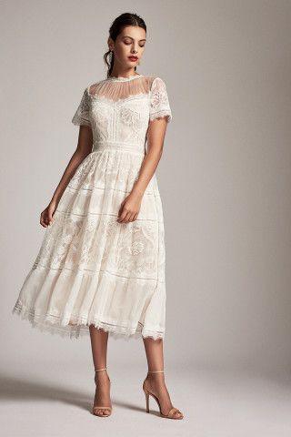 Tadashi Shoji Camilla Tea-Length Dress (With images) | Tea length .